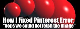 Pinterest Error