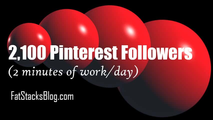 How I got 2100 Pinterest Followers with Very Little Work