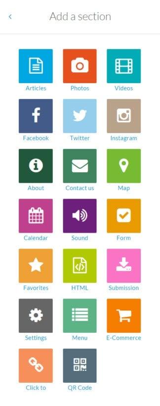 GoodBarber App Widgets
