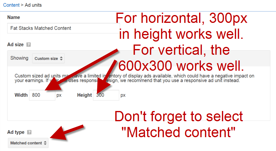 How to create a Google Matched Content unit