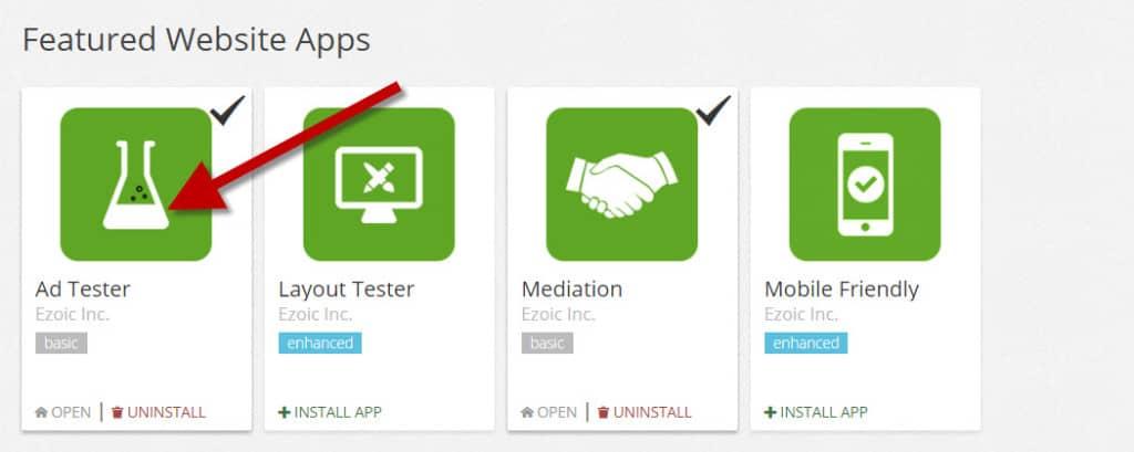 Ezoic Ad Tester App