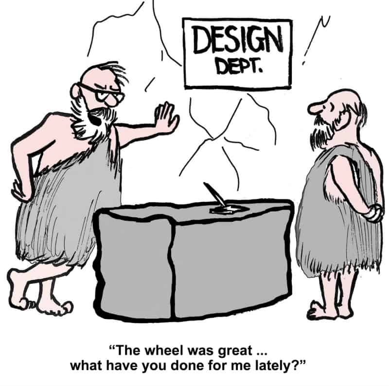 Wheel Invention Cartoon