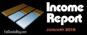 Income Report January 2016:  $32,429 (2 Niche Sites)