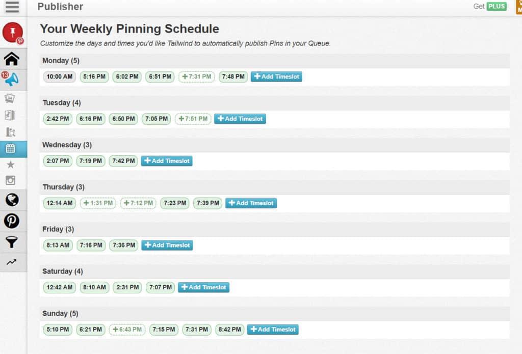 Tailwind Queue Scheduling Screen