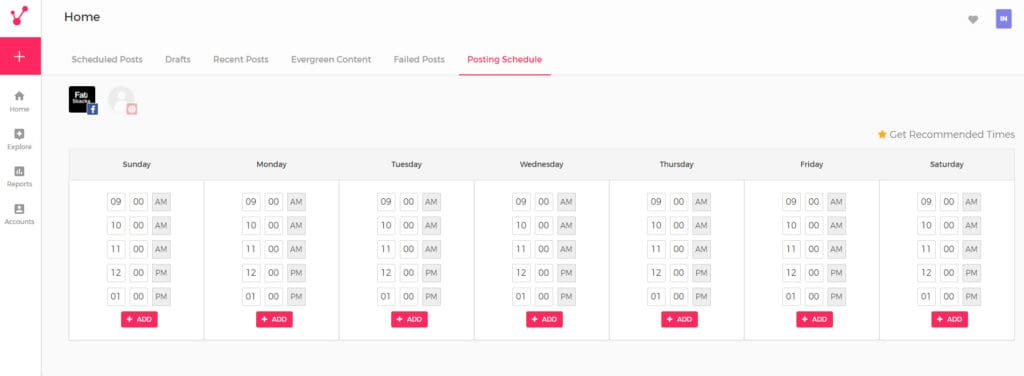 Viraltag Queue Scheduling Screen