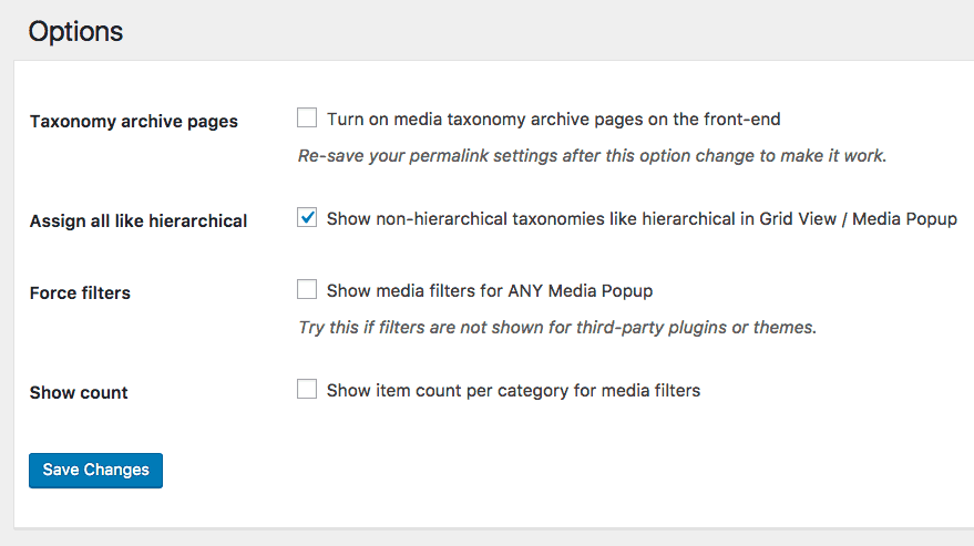 Set up Enhanced Media Categories Plugin