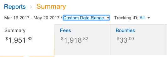 Amazon affiliate commissions screenshot