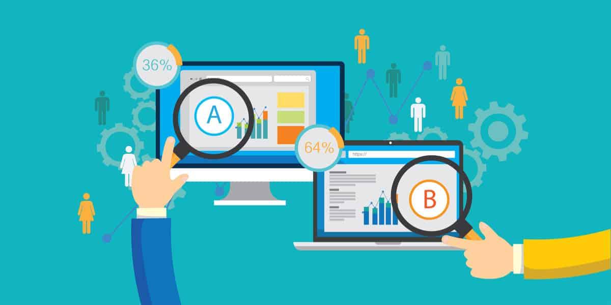 Ad A/B testing illustration