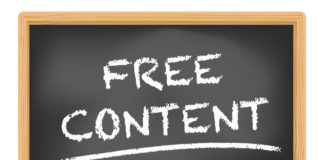 Free content written on a blackboard
