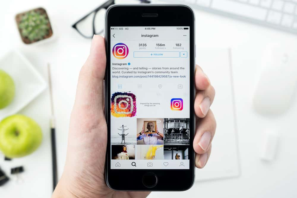 Photo of Instagram on mobile phone