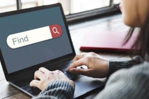 Entering keywords into search engine