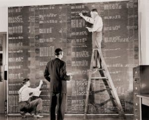 Old chalkboard data collection and colation