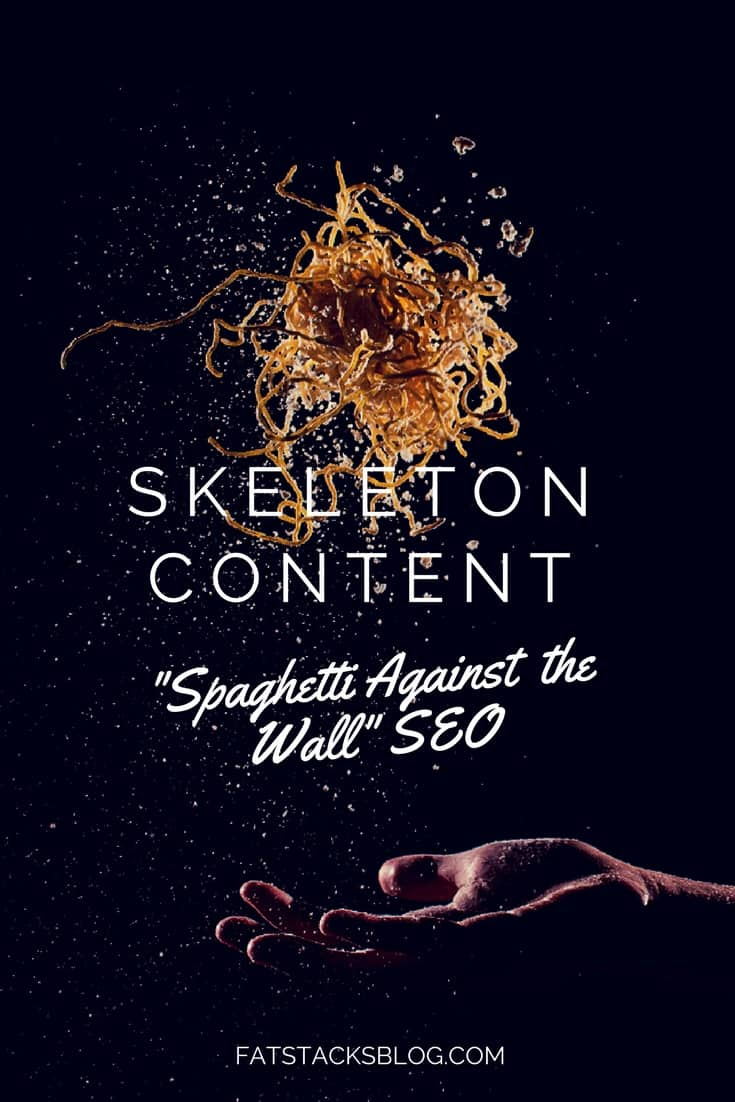 Spaghetti against the wall SEO