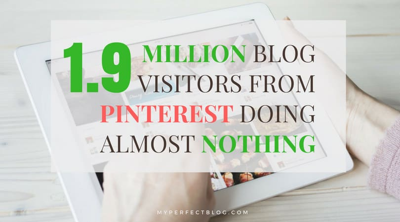 1.9 million website visits from Pinterest