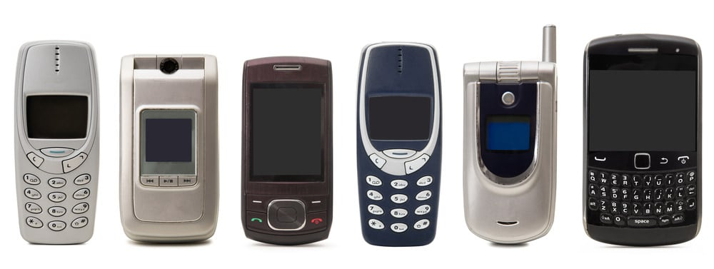 Obsolete cell phones