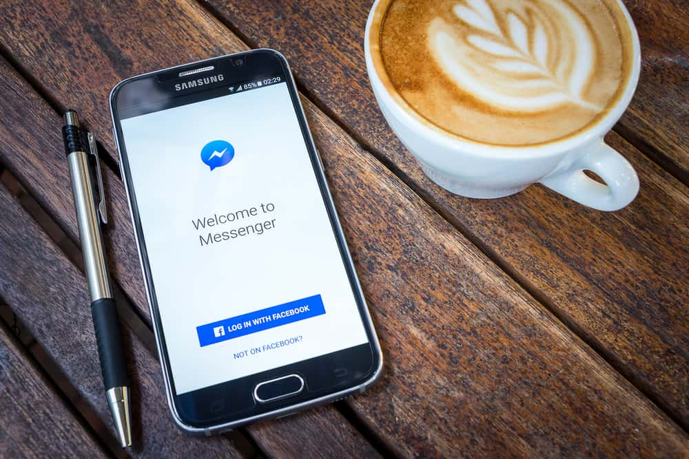 Facebook Messenger on mobile device