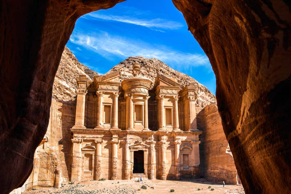 Monastery in the ancient city of Petra Jordan