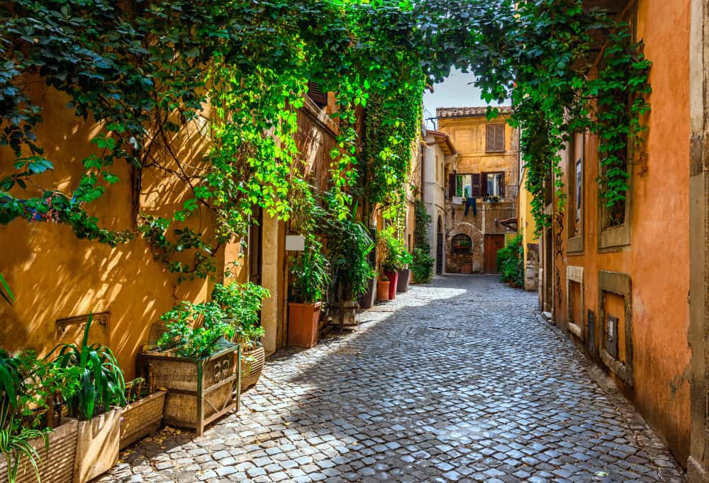 Old street in Trastevere, Rome