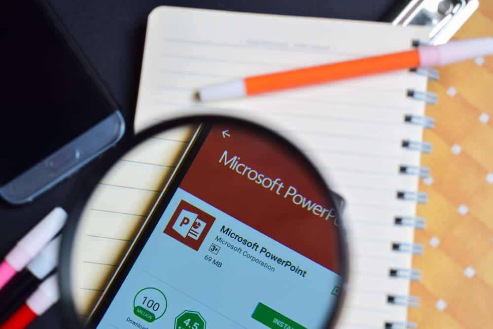 PowerPoint on mobile device