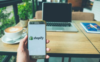 Shopify platform on mobile device