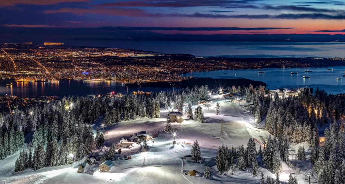 Grouse Mountain Ski Resort at Night jan7