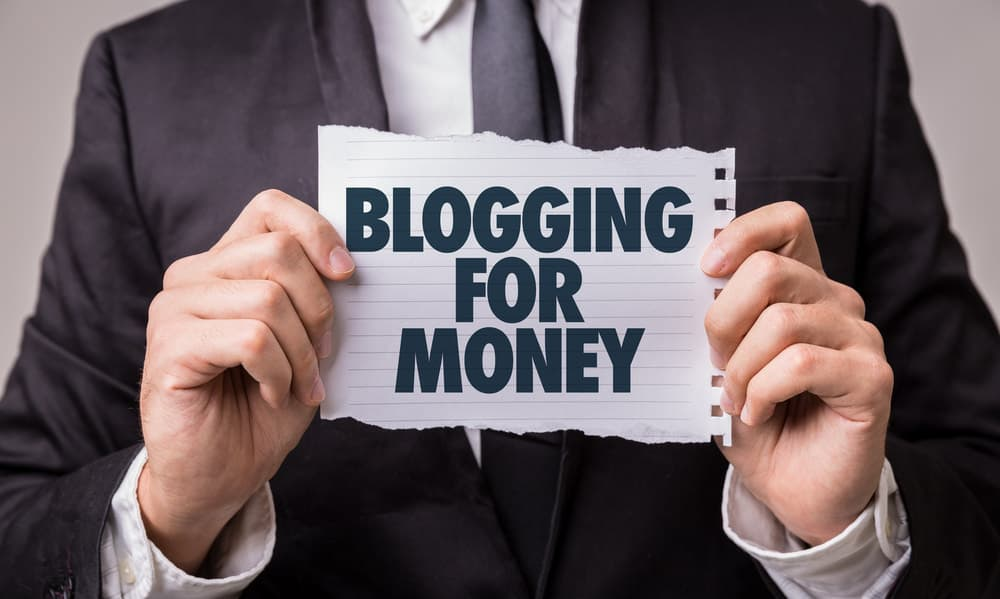 Blogging for money photo