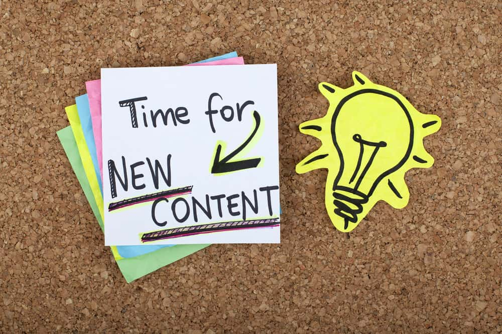 Time to publish new content on blog image