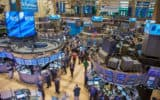 Busy trading floor on New York Stock Exchange