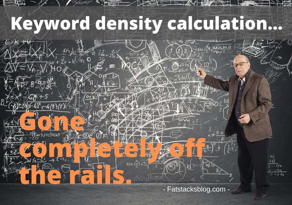 Keyword density complicated calculation