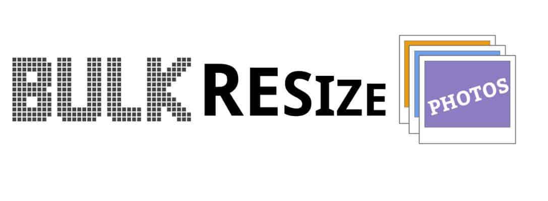 Bulk Resize Photo image compression tool