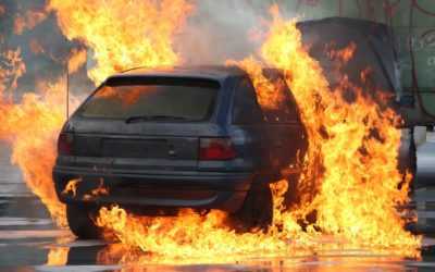 Car exploding