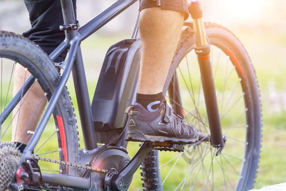 Guy riding electric mountain bike