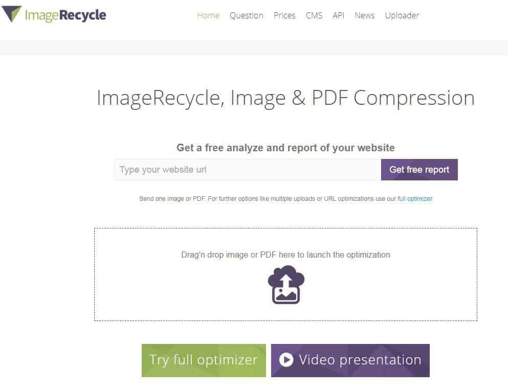 Image Recycle multi-purpose compression tool