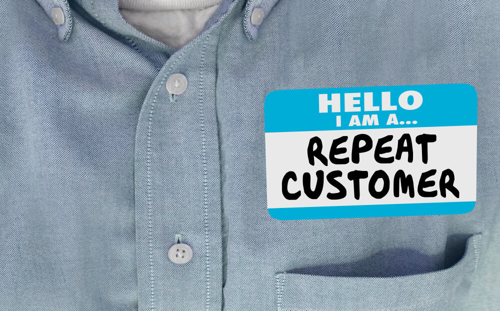 Repeat customer badge