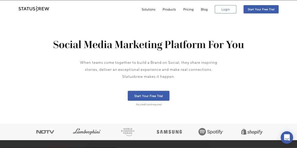 Statusbrew platform