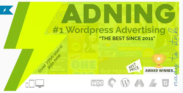 ADNING (WP Pro Advertising System) WordPress Plugin for Ads