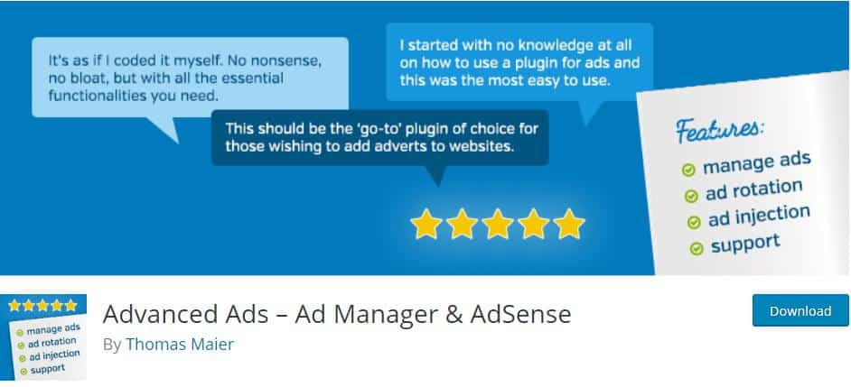 Advanced Ads Free Plugin for Ad Management