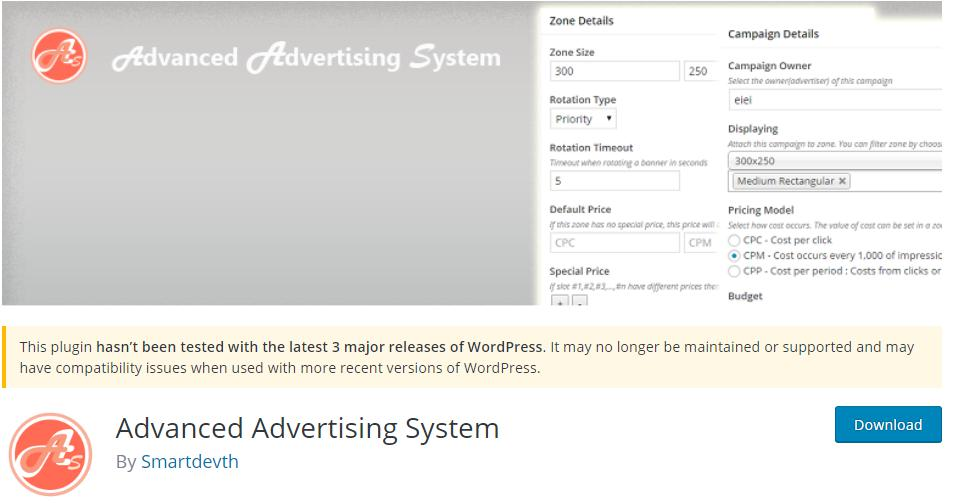 Advanced Advertising System Free Plugin for Ad Management