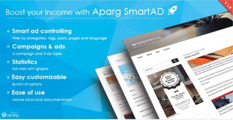 Aparg SmartAd – Premium WordPress Ad Management Plugin