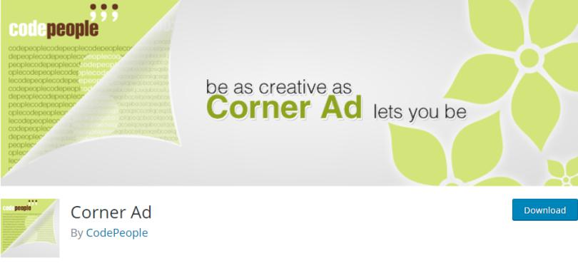 Corner Ad Free Plugin for Ad Management