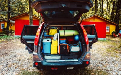 Packed car for camping trip