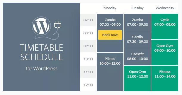 Timetable Responsive Schedule for WordPress plugin