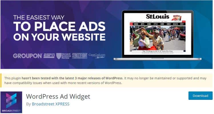 WordPress Ad Widget Free Plugin for Ad Management