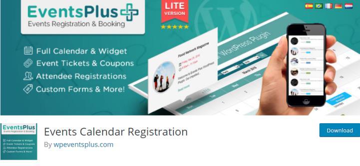 WordPress Events Calendar Registration & Booking