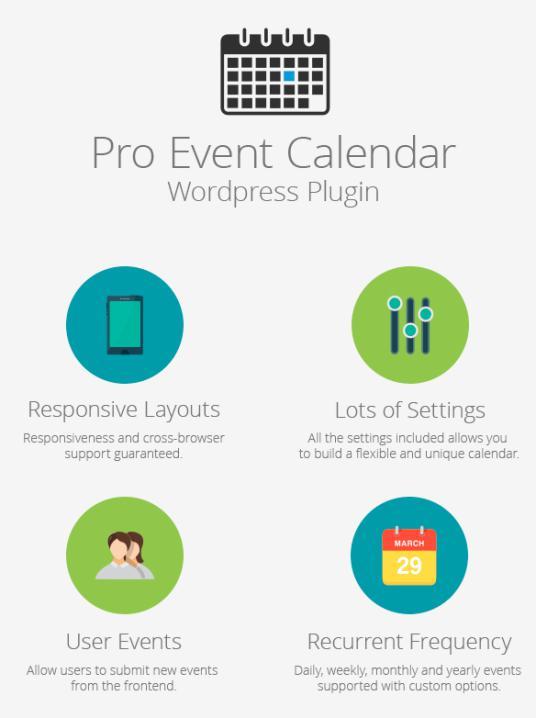 WordPress Pro Event Calendar plugin
