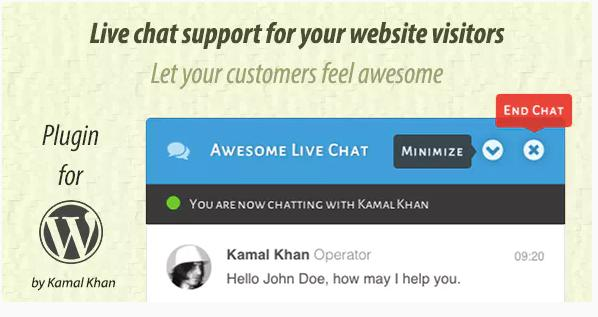Awesome Live Chat plugin for live chat