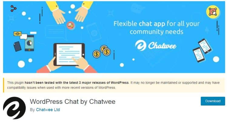 Chatwee plugin for live chat