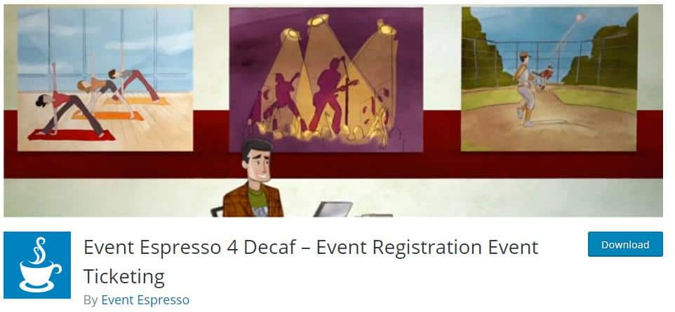 Event Espresso 4 Decaf Plugin for event display