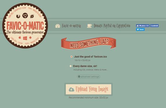 Favicomatic.com favicon generator