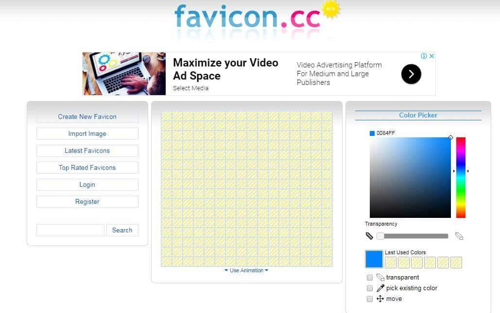 Favicon.cc favicon generator